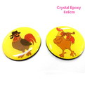 10B2A custom crystal promotional epoxy fridge magnet 6x6cm