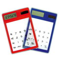 10O7    Color Transparent Slim Calculator Solar Calculator