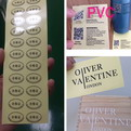 10Z03    Transparent PVC stickers 20 x 5 cm