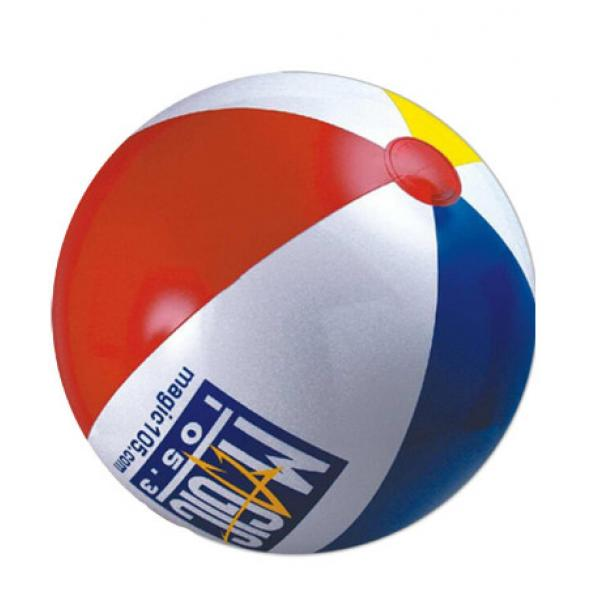 inflated 30cm beach balls