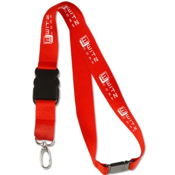 Custom promotional lanyard with safety clips