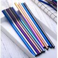 30B02 Personalised Metal Straws Colourful 304 stainless steel