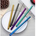 30B04 Personalised Metal Straws Colourful 304 stainless steel Straw Size: 215x6mm