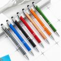 DM80 Press Metal aluminum stylus ballpoint pen logo laser engrave
