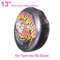 "A01-A     13"" + multi Gradient color printing auto PU leather spare tyre/wheel cover"