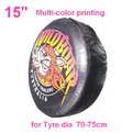"A03-A     15"" + multi Gradient color printing auto PU leather spare tyre/wheel cover"