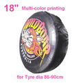 "A06-A     18"" + multi Gradient color printing auto PU leather spare tyre/wheel cover"