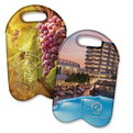 H14 full color Printing 2 red wine bottle bag with 3mm thickness