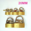 K08    promotional Thin copper brass padlock 20mm