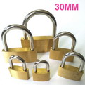 K10    promotional Thin copper brass padlock 30mm