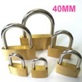 K11    promotional Thin copper brass padlock 40mm