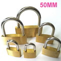 K12    promotional Thin copper brass padlock 50mm