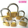 K13    promotional Thin copper brass padlock 60mm