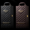 PR11 Premium branding 2 bottle red wine soft leather gift box sets
