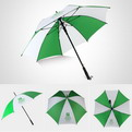 "U12    Radius 23"" Automatic straight umbrella"