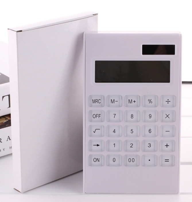 10O1    Creative solar calculator button finance office calculator
