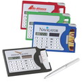 10O2    Business card holder solar calculator