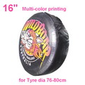 "A04-A     16"" + multi Gradient color printing auto PU leather spare tyre/wheel cover"