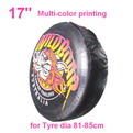 "A05-A     17"" + multi Gradient color printing auto PU leather spare tyre/wheel cover"